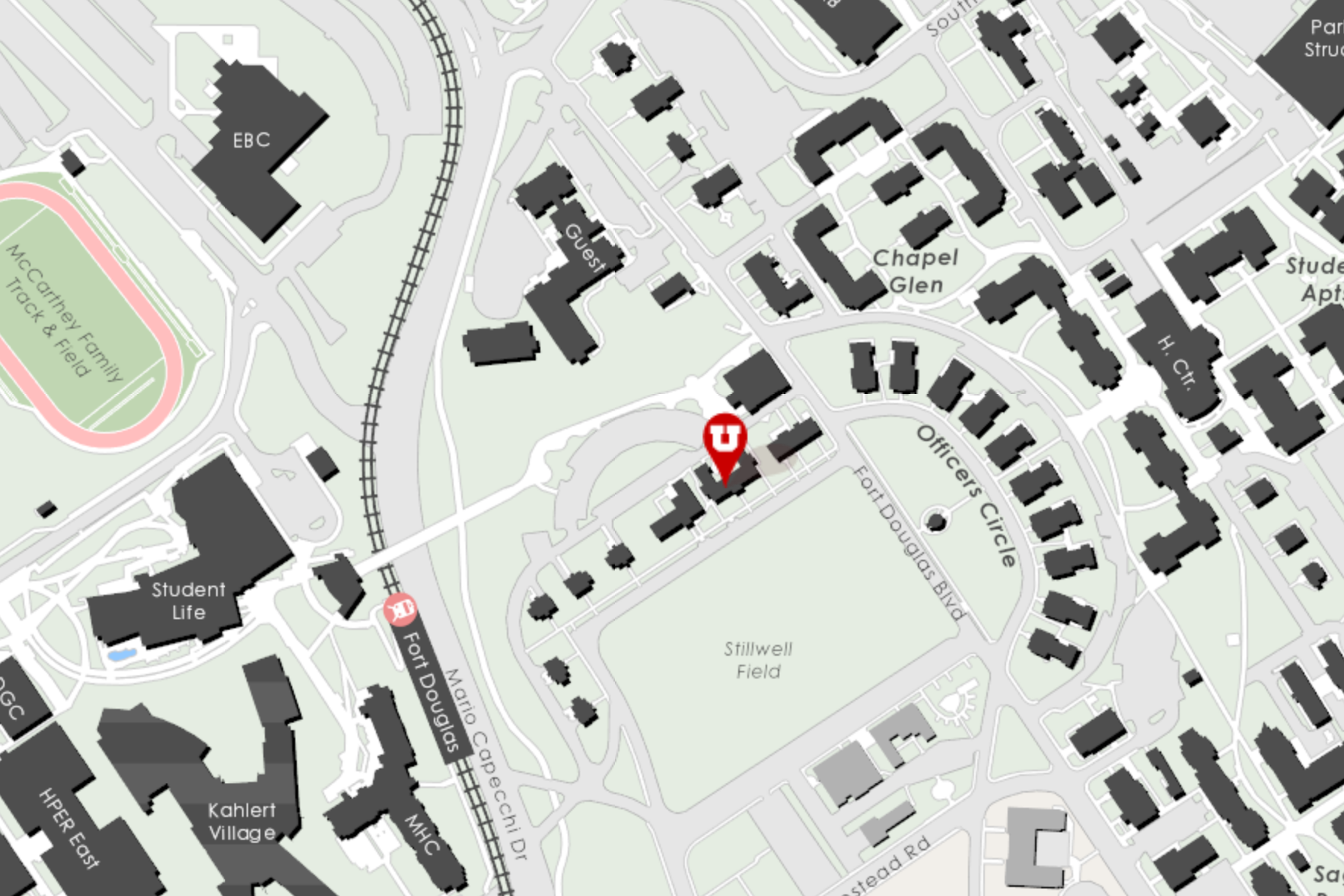 Honors College on the Campus Map