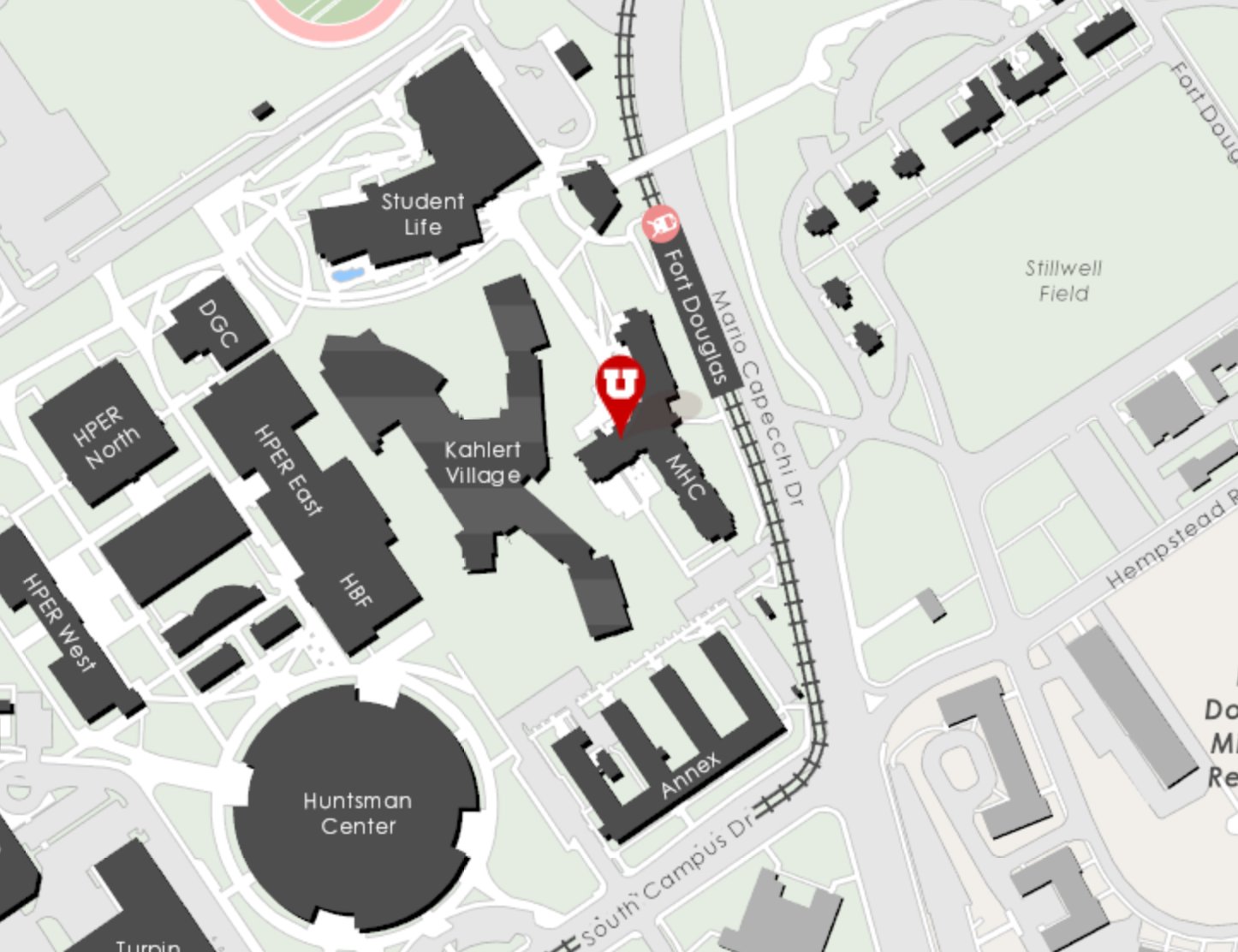 MHC on the Campus Map