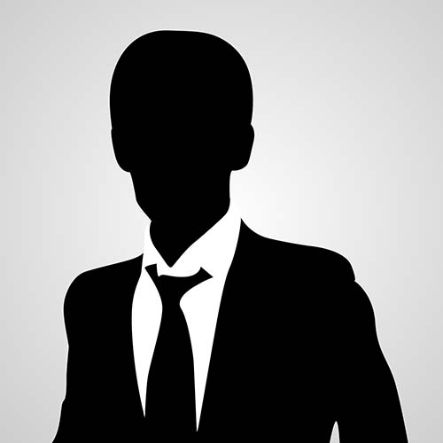 Silhouette of a man in a suit