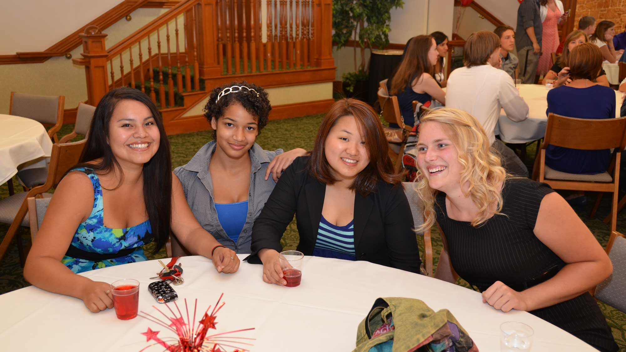 Students at a banquet