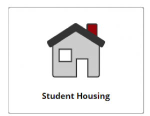 """Student Housing"" text under gray house icon from CIS portal"
