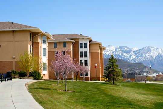 Sage Point at springtime mountain view