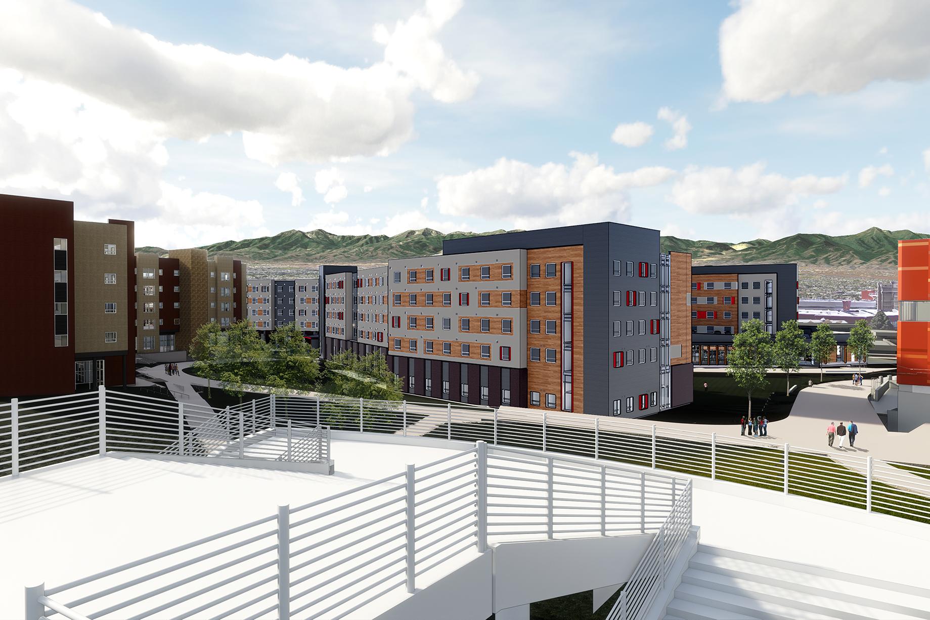 Kahlert Village rendering from Legacy Bridge