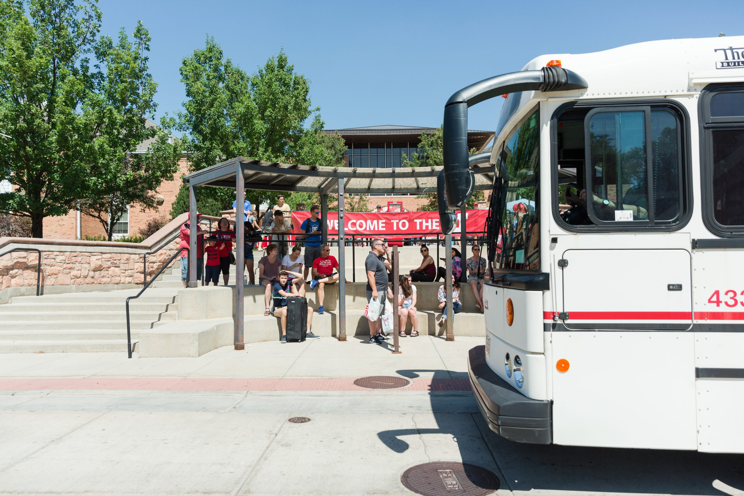 Campus Shuttle at PHC shuttle stop