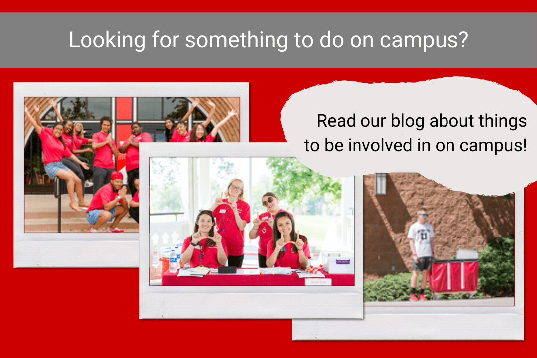 Being Involved on Campus Blog Graphic