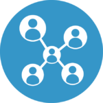 Icon of people in a network