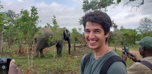 Student with Elephant