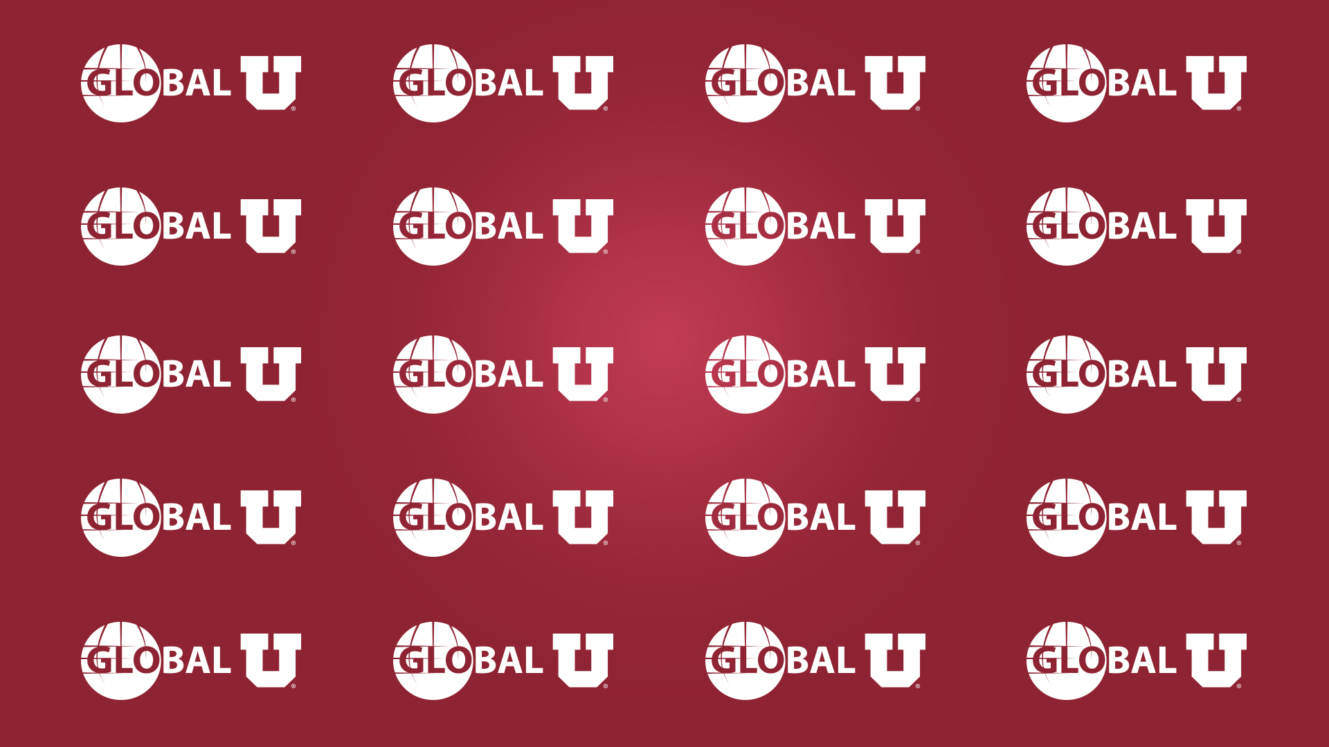 Global U logo zoom background